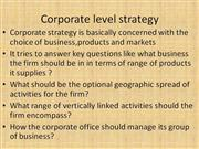 levels of strategy management