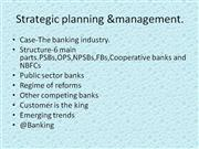 strategic planning and management