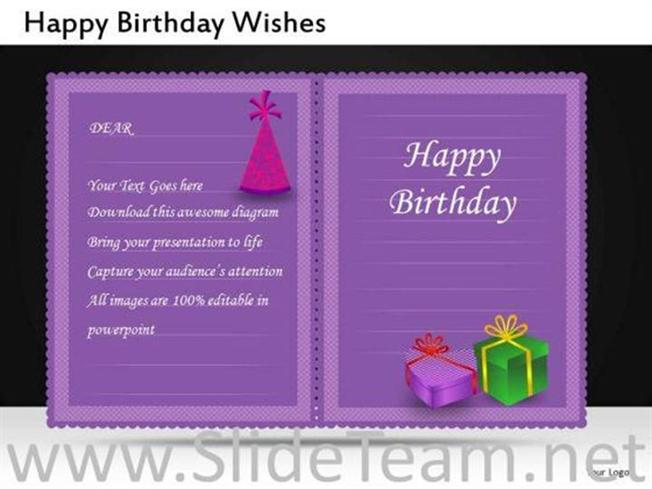 Happy Birthday Invitation Powerpoint Slides Powerpoint Diagram