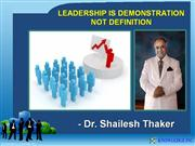 Leadership is demonstration