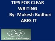 Tips For Clear Writung