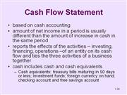 Csah Flow Statement