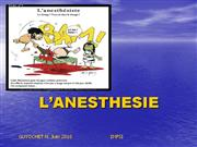 L�ANESTHESIE IFAS