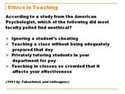 ethis in teaching