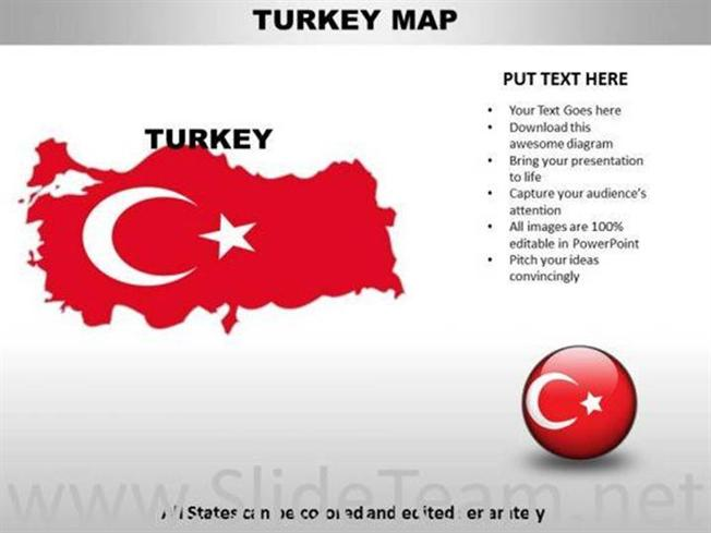 Country Powerpoint Maps Turkey Powerpoint Diagram