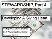 stewardship - giving