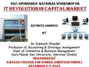 I T Revolution and growth of Capital markets