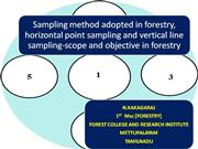 sampling,point sampling,sampling in forest,vertical,horizontal sample