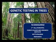 Genetic testing in trees,mating design,tree improvement, tree testing