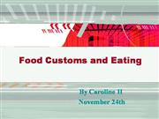 Lecture on food customs and eating