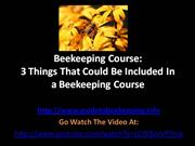 Beekeeping Course - 3 Things That Could Be Included