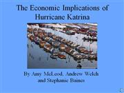 the economic implications of hurricane katrina