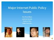 major issues with internet public policy