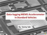 data-logging accelerometer in standard vehicles