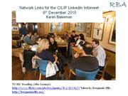 links for the cilip linkedin infomeet - 6th december 2010