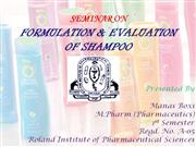 formulation and evaluation of shampoo