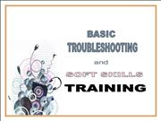 Troubleshooting and Soft Skills Training