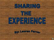 sharing the experience