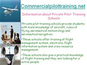 How to Find Private Pilot Training Schools