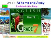 English 7 - Unit 9 - At home and away