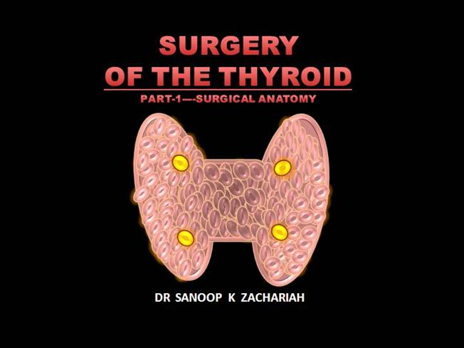 SURGERY of the THYROID-PART1-SURGICAL ANATOMY  authorSTREAM