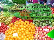 what you can do to improve community food security?
