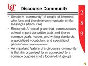 Discourse Community