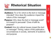 rhetorical situation analysis essay