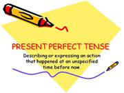 present perfect- partent