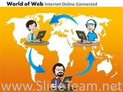 Online Connected Teams PPT Diagram