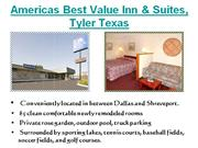 Americas Best Value Inn and Suites Tyler, TX