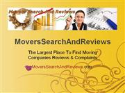 Real Moving Reviews - Choosing The Right Moving Company