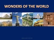 wonders of world