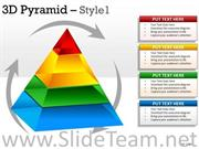 3D Pyramid Diagram With 4 Stages