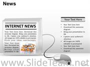 View Online News Internet and technology concept