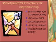 management function of organising