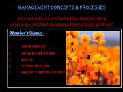 management concept and process