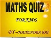 maths quiz for s=children