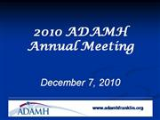 2010 Annual Meeting Slideshow