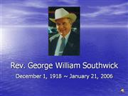 George W Southwick Picture Slide Show with music1