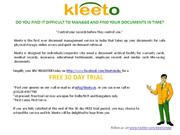 kleeto - 30 day FREE Trial Document Management Servicess