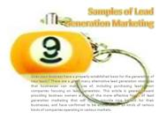 samples of lead generation marketing