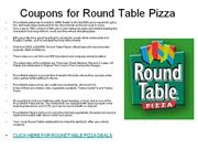 coupons for round table pizza