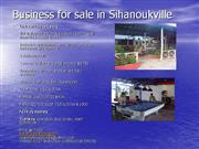 business for sale in sihanoukville