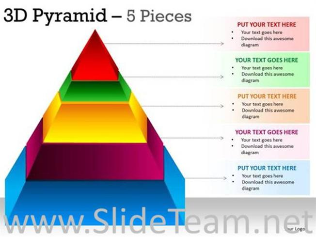 segmented colorful pyramid ppt graphic powerpoint diagram