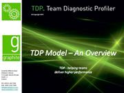 tdp - model overview