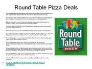 round table pizza deals