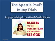 the trial of the apostle paul