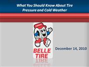 what you should know about tire pressure and cold weather