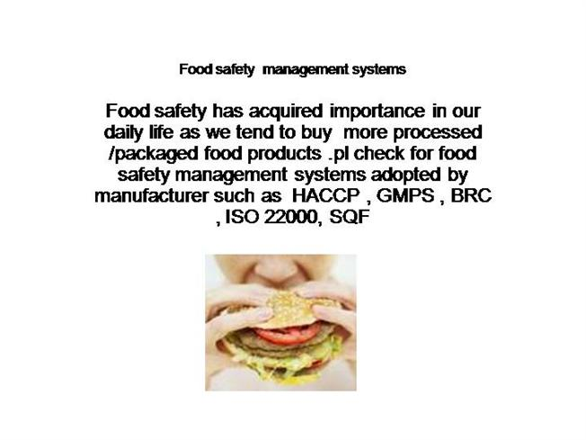 Food Safety Management Systems |authorSTREAM